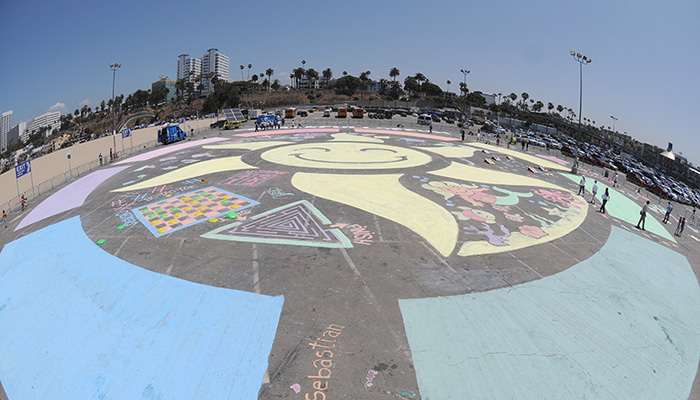 RoseArt Chalk Paint Mural at Santa Monica Pier