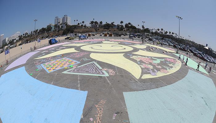 RoseArt Chalk Paint Mural at Santa Monica Pier